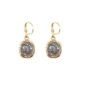 TAT2 Designs Gold Pavia Coin Dangle Earrings NEW